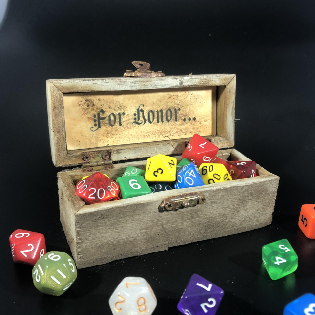 Wooden Dice Boxes and Trays